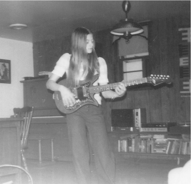 Christy as a teenager in her first band